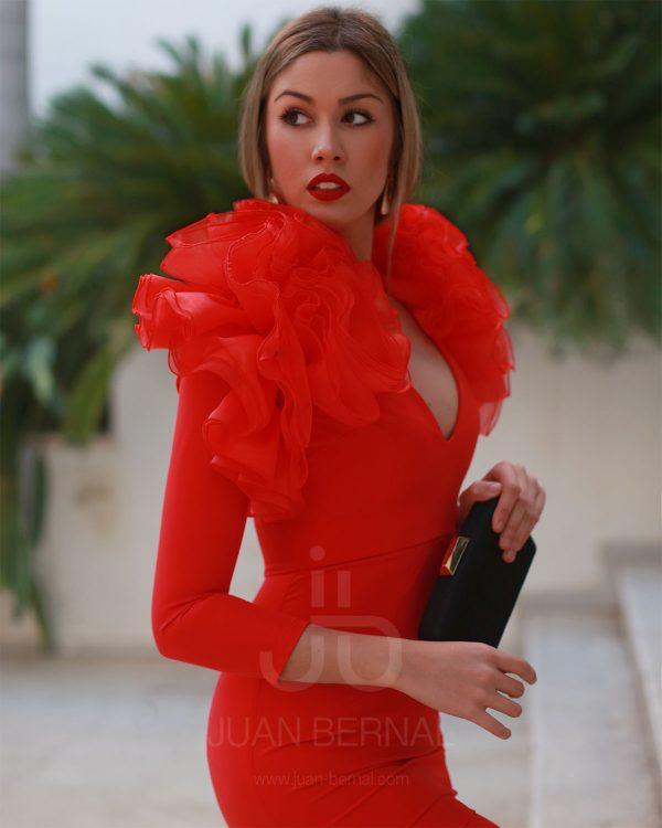 IMG 9361 600x750 - Vestido Gloria rojo